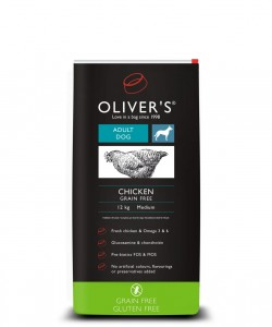 Olivers Adult Chicken Grain Free S 4 kg