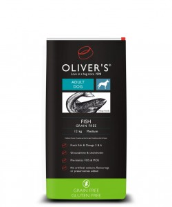 Olivers Adult Fish Grain Free L 12 kg